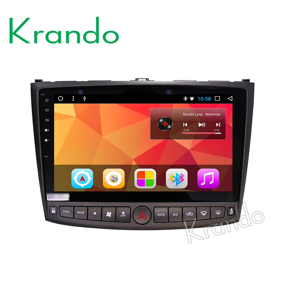 "Krando Android 7.1 10.1"" IPS Full touch car multimedia system gps navigation audio player for Lexus is250 is300 is350 2006-2012"