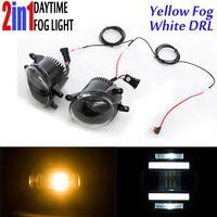 Led Fog Light White Yellow Foglight White DRL Daytime Running for Toytoa RAV4 Yaris Camry Corolla Matrix Venza Prius Solara