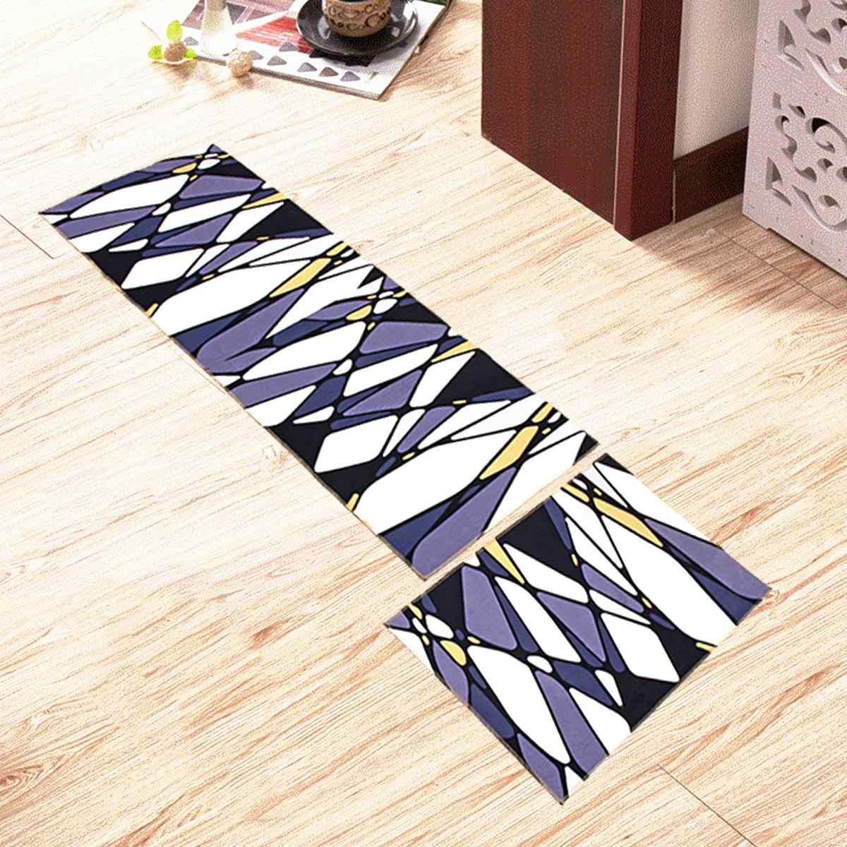 2 pièces tapis de sol de cuisine zone antidérapante tapis salle de bain porte tapis ensemble 17 modèles chambre salle de bains tapis tapis antidérapant porte tapis maison