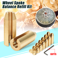 14 Pack Reusable Motorcycle Reusable Brass Wheel Spoke Balance Weights Refill Kits Super Moto Dual sport For Suzuki For Harley