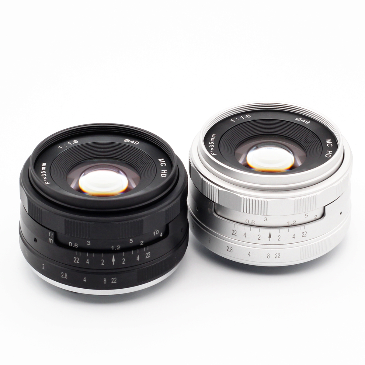 35mm f/1.6 objectif principal manuel pour Sony E monture NEX Canon EF-M EOS M Fujifilm FX X Olympus Pansonic M43 MFT Micro4/3 35mm F1.6