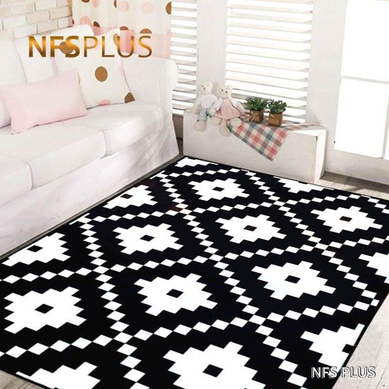 Surdimensionné géométrique tapis de sol tapis 80x120 cm anti-dérapant zone tapis pour salon chambre cuisine couloir chevet décor à la maison