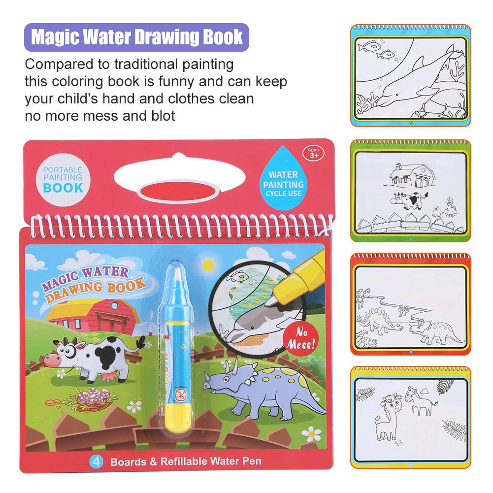 1 X Kids Magical Water Drawing Pen Preschool Education Drawing Painting Toy ZY