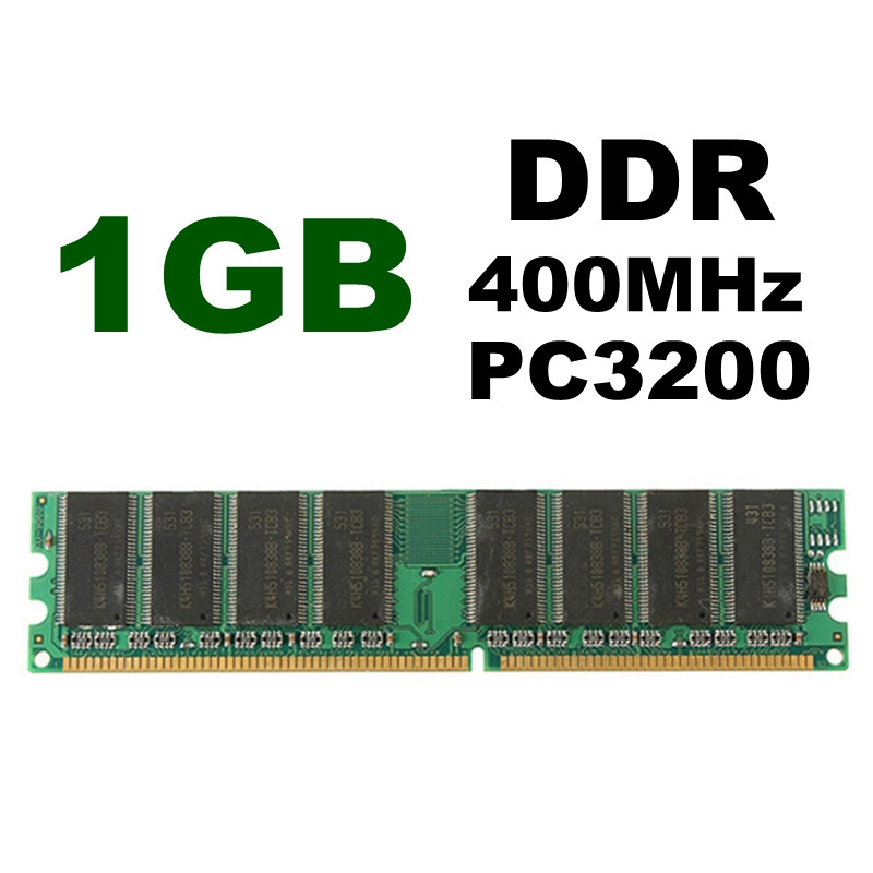 1Pcs <font><b>1GB</b></font> <font><b>DDR</b></font> 400MHz PC3200 Non-ECC 184 pins in Memory Compatible Low Density Desktop PC DIMM Memory for RAM CPU GPU APU image