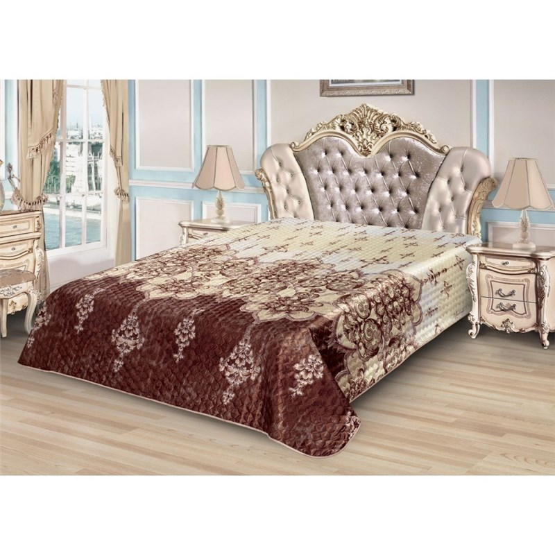 Bedspread Ethel Silk Oriental pattern, size 220*240 cm, faux Silk 100% N/E faux fur collar hooded plus size zip up thicken quilted jacket