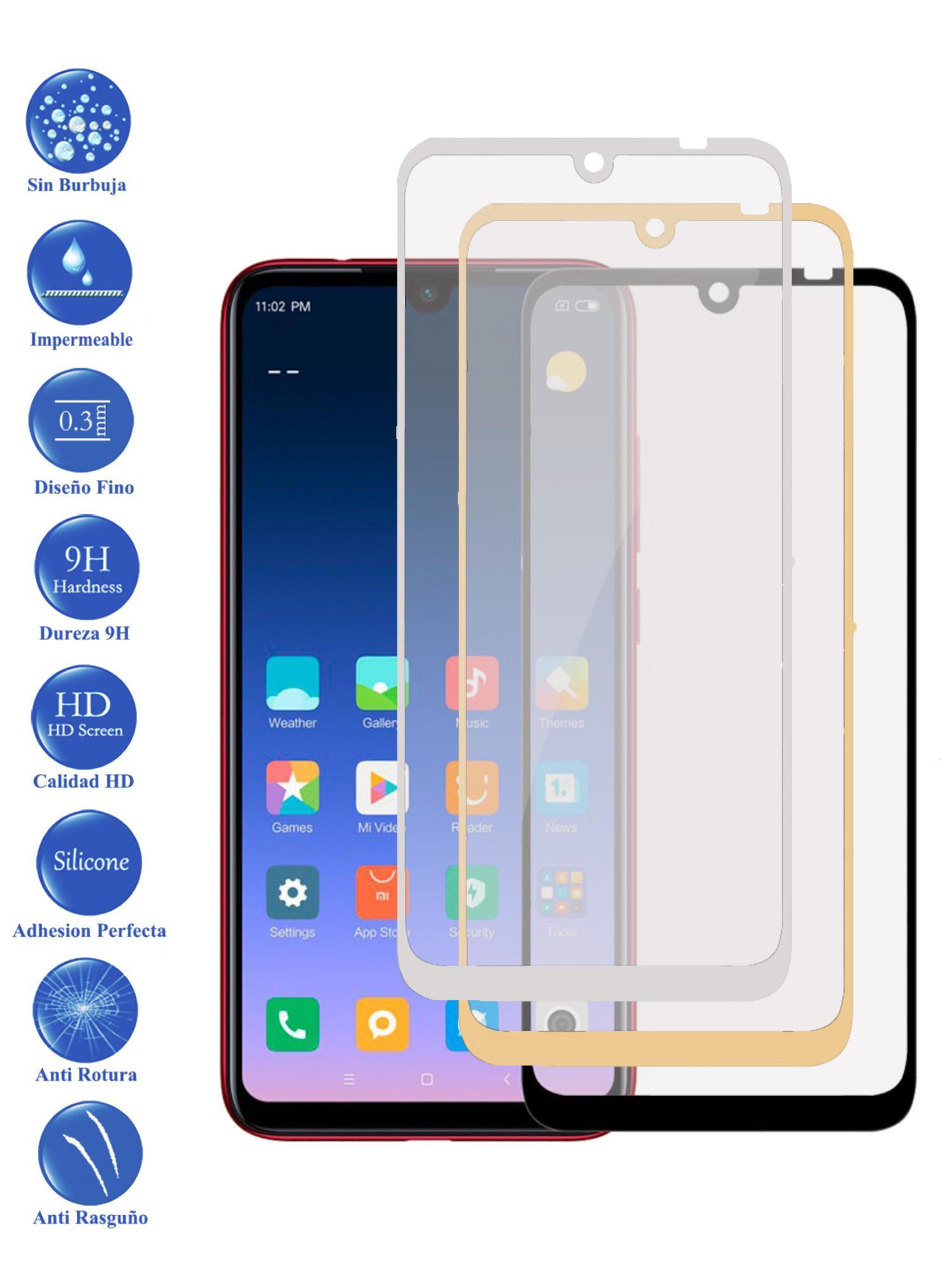 Protector De Cristal Templado Completo 3D 9H Para Xiaomi MI 9 Elige Color