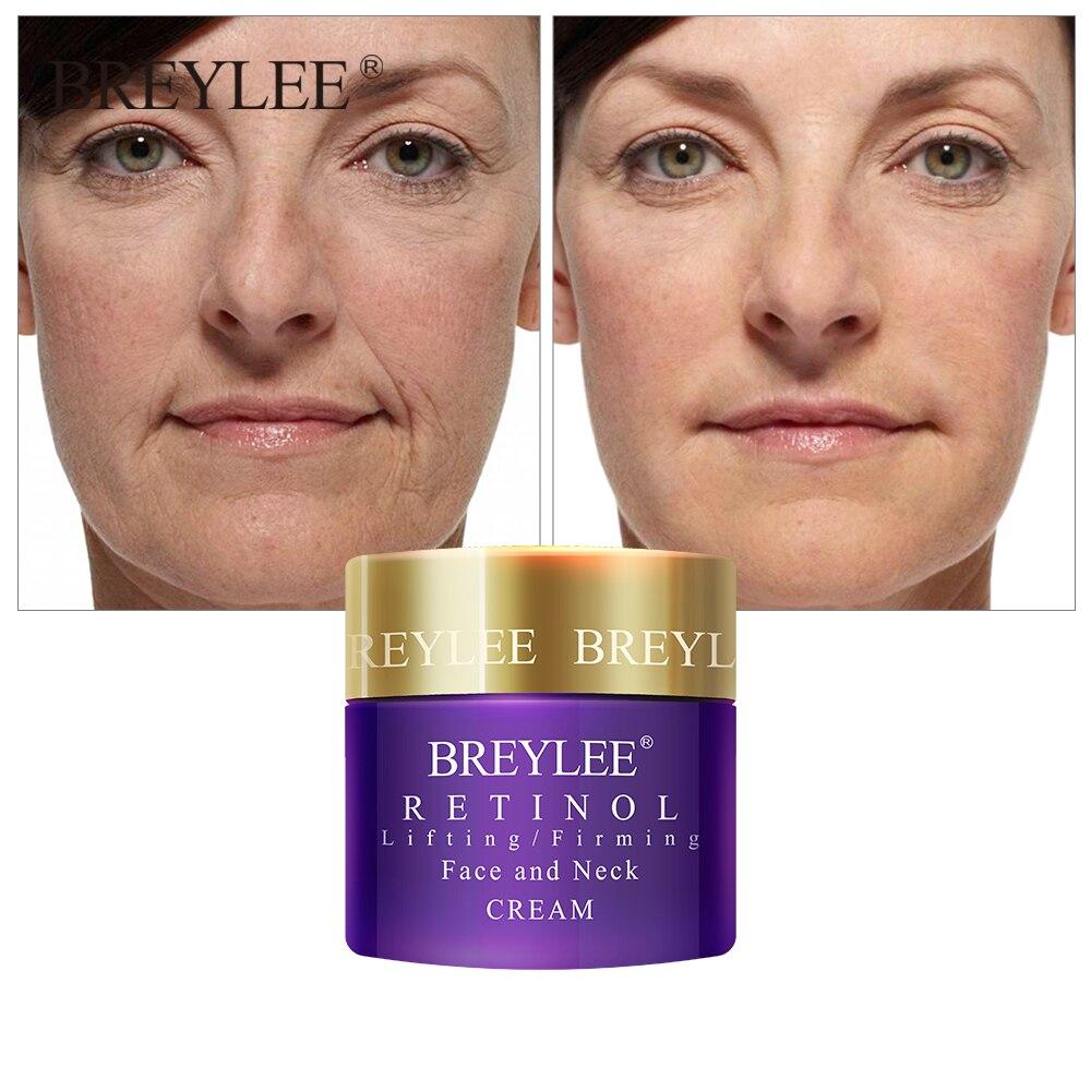 BREYLEE Retinol Firming Face Cream Lifting Neck Anti-aging Remove Wrinkles Night Day Cream Moisturizing Facial Serum Skin Care