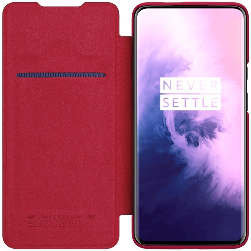 NILLKIN para OnePlus 7T Pro caso Qin Series de lujo de cuero PU cubierta trasera de plástico 1 + 7 Pro/OnePlus 7 caso Versión Global Xiaomi QIN 2 Pro Pantalla Completa Phon e 4G Red con Wifi 5,05 pulgadas 2100mAh Android 9,0 SC9863A Octa Core característica
