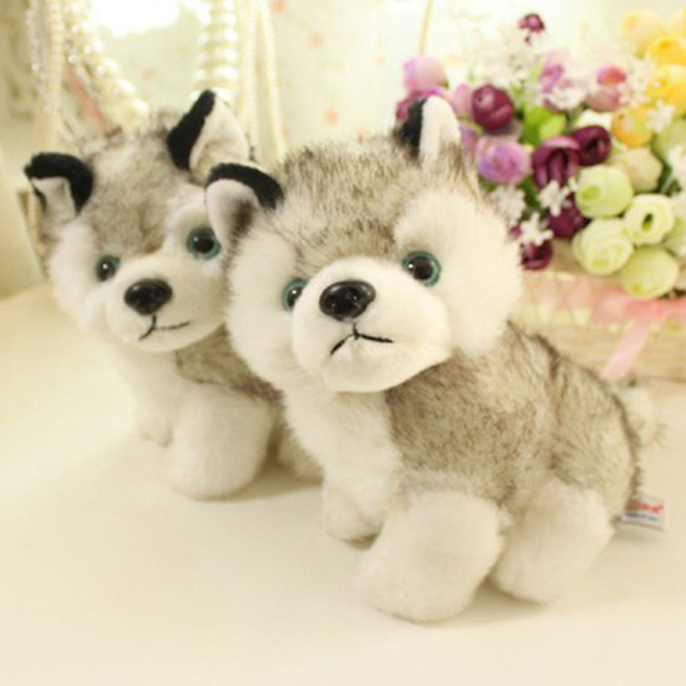 "20cm 8/"" Plush Doll Soft Toy Animal Husky Dog Baby Kids Cute Stuffed Toys Gift"