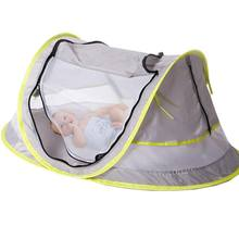 KACAKID Baby Portable Baby Travel Bed Beach Tent UPF 50+ Sun Shelter Pop Up Mosquito Net and 2 Pegs(China)
