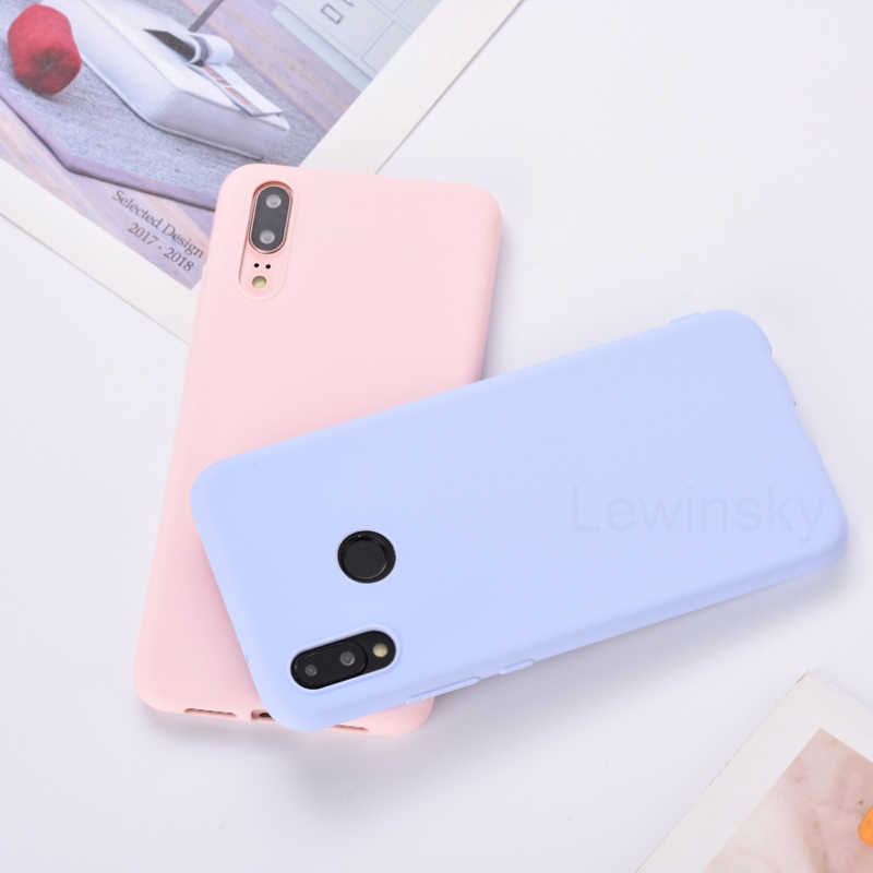 Candy Color Silicon TPU Soft Case For Huawei Honor View 20 10 9 8 Lite 8A 8C 8X P30 P20 Mate 20 Pro P10 P9 P8 Lite 2017 Y9 2019