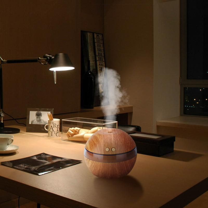 Natural Wooden Humidifier Aroma Essential Oil Diffuser Ultrasonic Air Freshener USB Cool Mini Mist Maker for Home Office