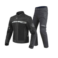 2018 Hot Sale Black Motorcycle Jacket Pants Men Moto Jacket Breathable Denim Mesh Racing Riding Jacket Jaqueta Motoqueiro
