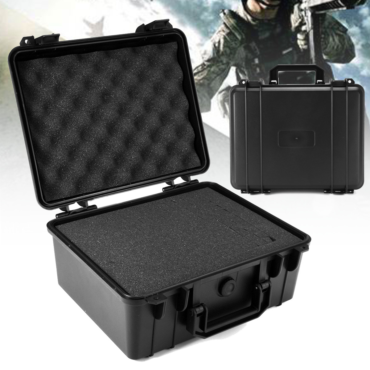 Portable Waterproof Hard Carry Case Bag Tool Kits Storage Box Safety Protector Organizer Hardware Toolbox Impact Resistant Tool Organizers