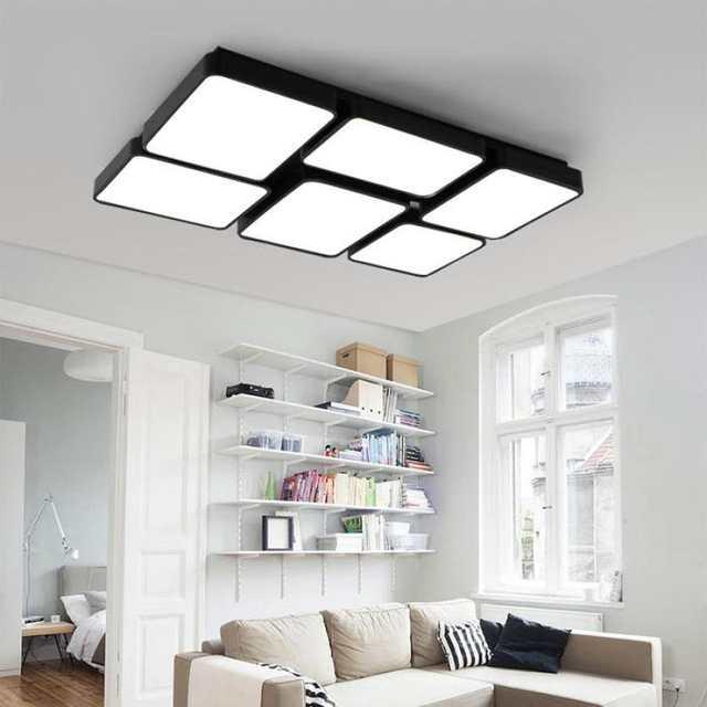 Us 256 65 13 Off Home Office Led Panel Light Study Large Rectangular Ceiling Lamp Commercial Lighting Modern Work In