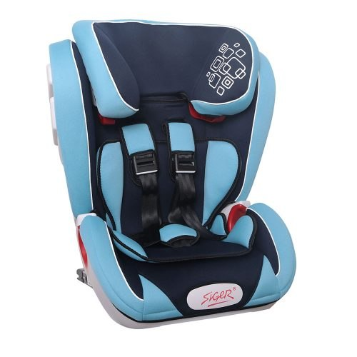 Car Seat SIGER Indigo ISOFIX Blue, 1-12 years old, 9-36 kg, band 1/2/3 (KRES1517) car seat siger art диона alphabet 0 7 years old 0 25 kg group 0 1 2 kres0467