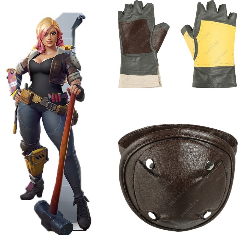 Game Battle Royale Cosplay Penny Costume Superhero Halloween Adult Women Gloves Shirt Cuffs Leather Kneepad Accessories