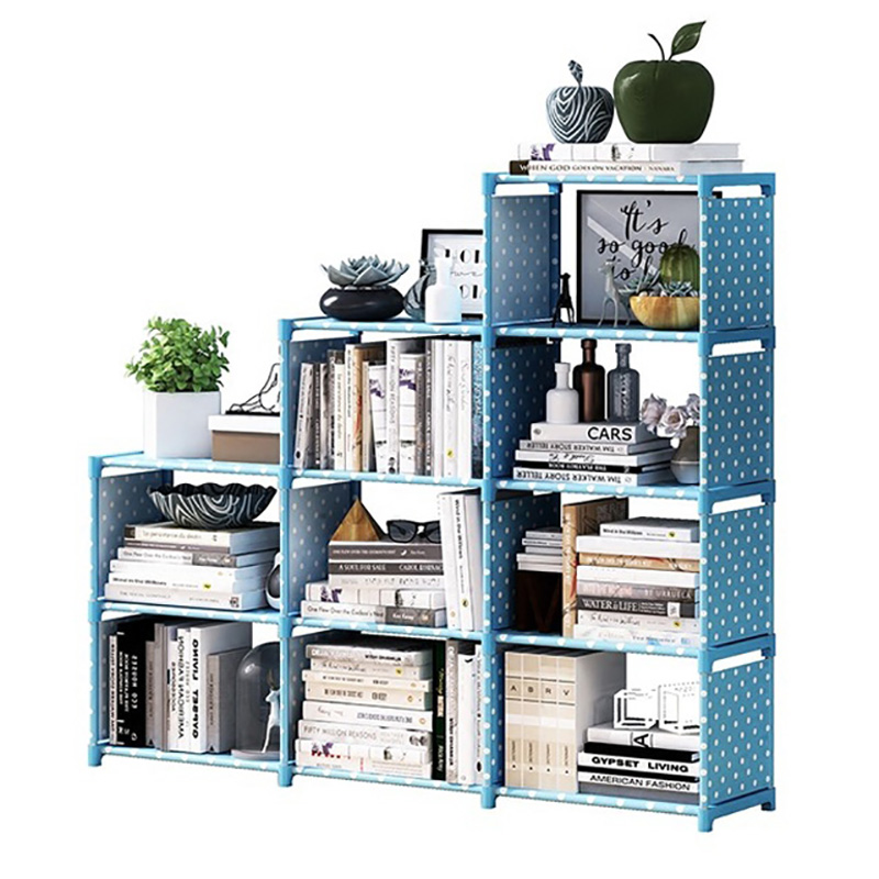 Multi-layer Simple Book Shelf Non-woven Fabric Assembly Wall Bookcase for Home Living Room Furniture Storage Organizer JC012Multi-layer Simple Book Shelf Non-woven Fabric Assembly Wall Bookcase for Home Living Room Furniture Storage Organizer JC012