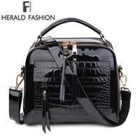 Herald модные женские туфли Сумки женский роскошный Лакированная кожа сумки на плечо высокое качество женская сумка-тоут сумка твердые сумки-...