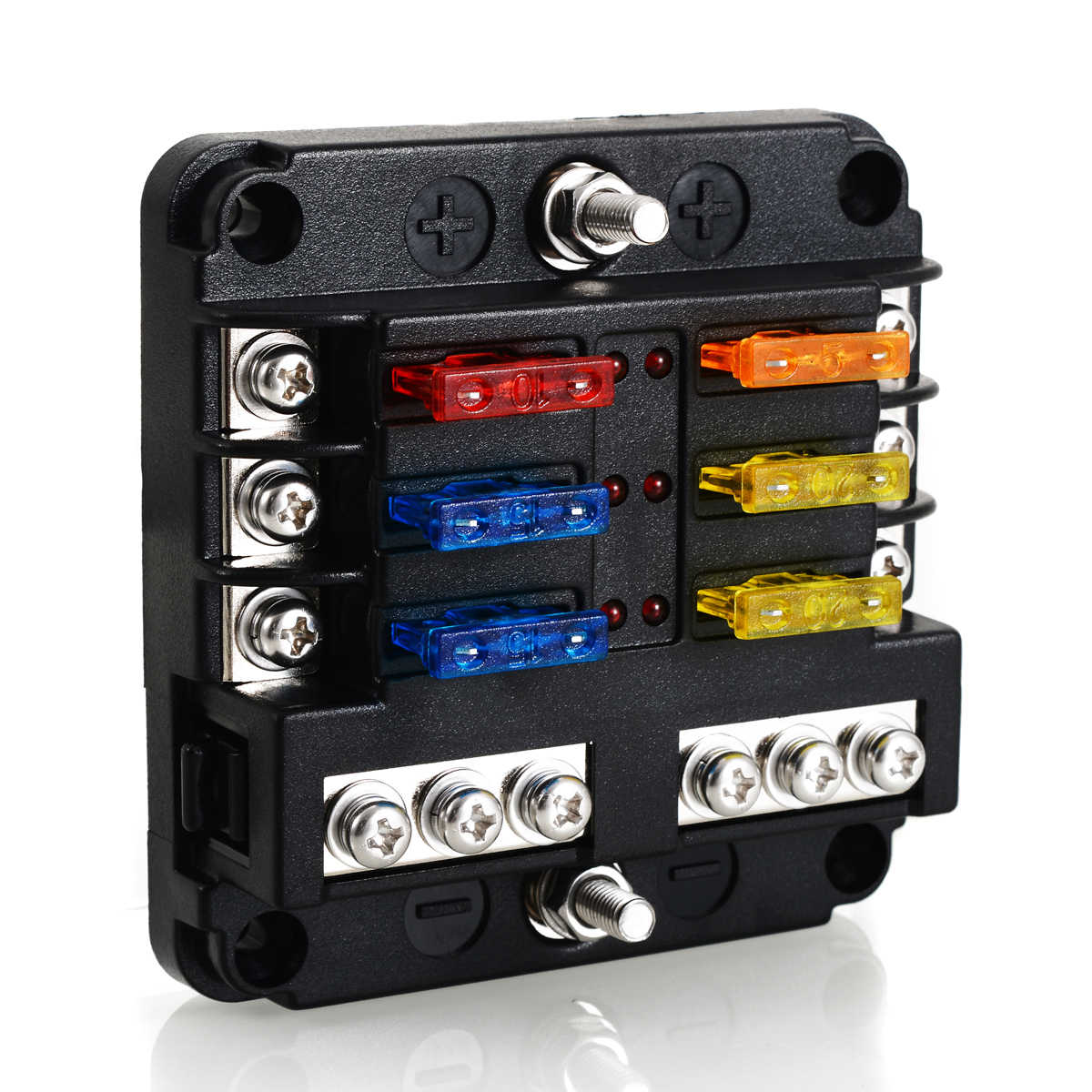 [SCHEMATICS_48DE]  Electrical Blade Fuse Holder Box 6 Way Blade Fuse Block Case 12V/24V Car  Truck Marine Bus RV Van 5A 10A 15A 20A Fuses| | - AliExpress | Truck Fuse Box |  | AliExpress