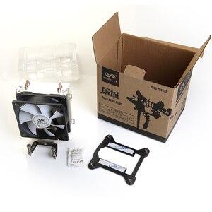 Вентилятор охлаждения SOPLAY CPU Cooler, 2 тепловых трубки TDP 95 Вт с PWM 3 pin 800-2000 об/мин 90 мм, высокопроизводительный тихий радиатор