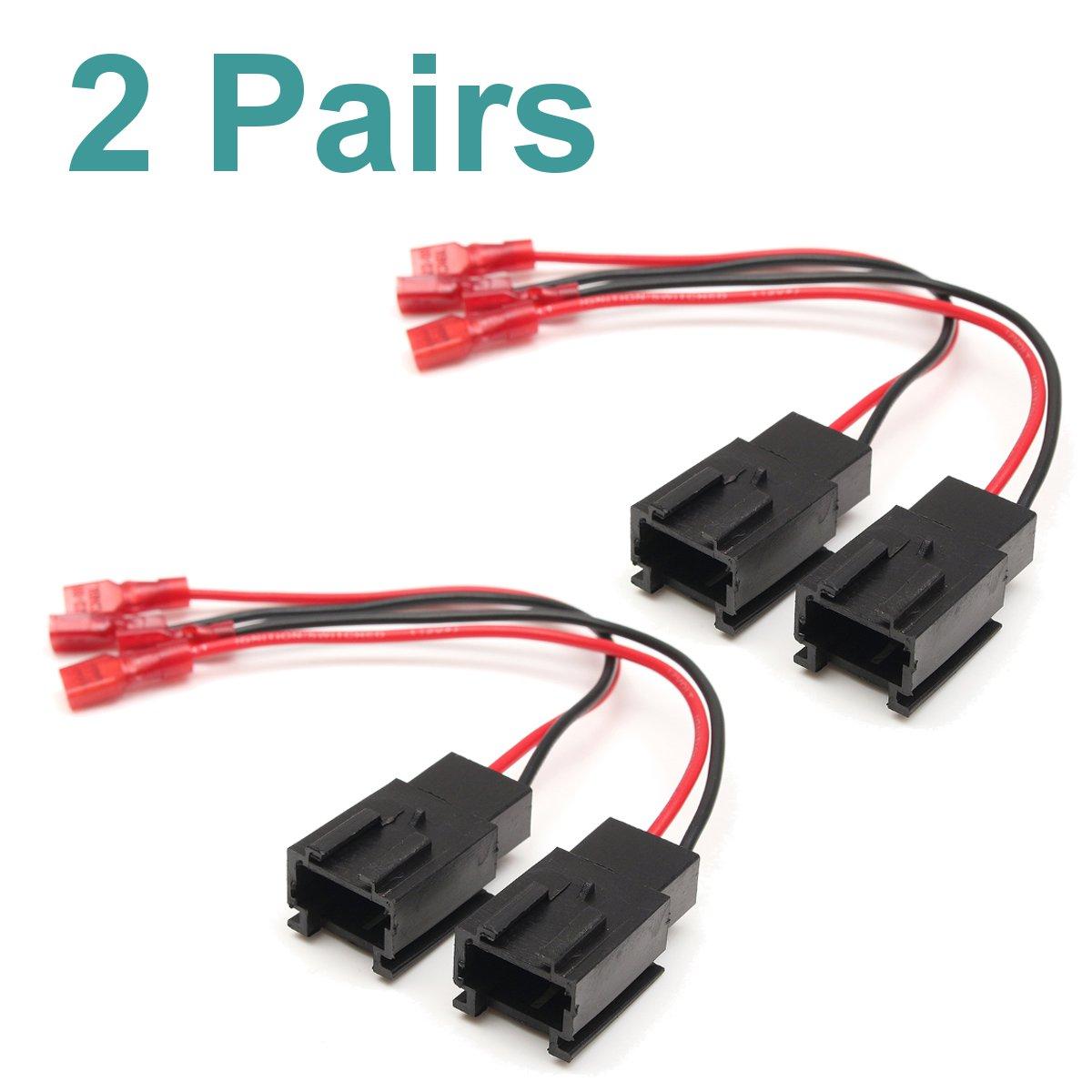 Betrouwbaar 1 Paar/2 Pairs Speaker Adapter Plug Connectors Draad Auto Speaker Adapter Draad Voor Peugeot 206 Voor Citroen C2 1999-2015 Pc2-821 Modieuze En Aantrekkelijke Pakketten