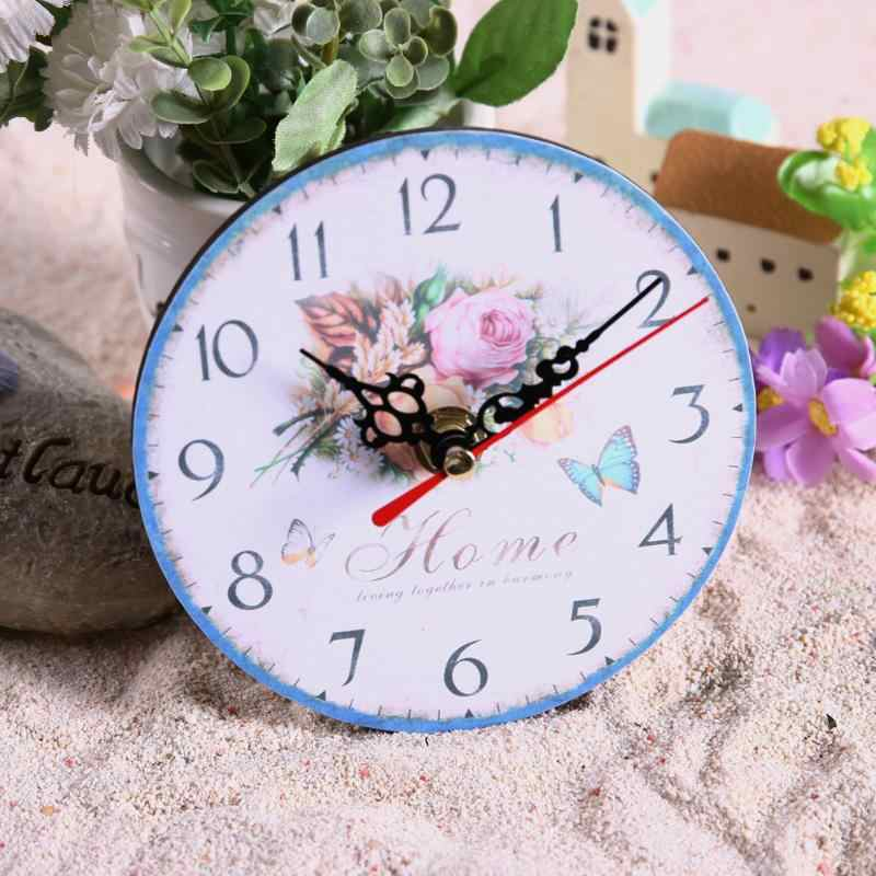 Vintage Wooden Wall Clock Large Shabby Chic Rustic Kitchen Home Antique Wall Clocks Home Decoration Watch Wall Gift
