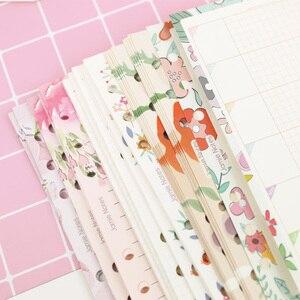 Image 2 - MyPretties 144 arkuszy kwiatowy wkłady pakiet A5 A6 do napełniania papiery do 6 Hole spoiwa organizer papiery 2019 Planner