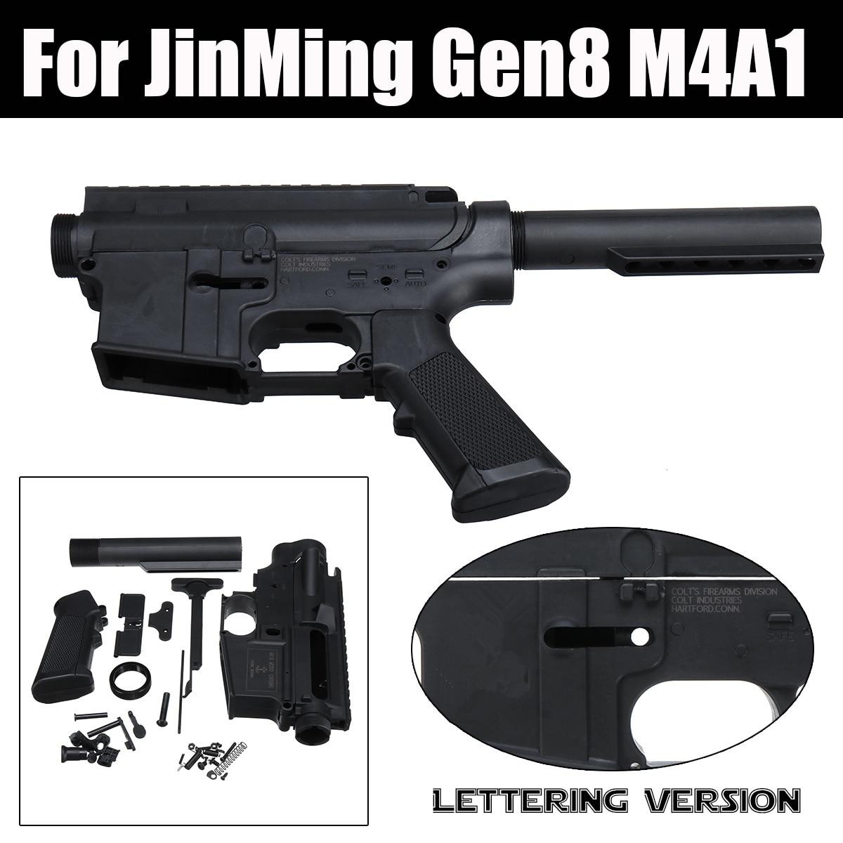 Mise à niveau Nylon Lettrage Version Split Récepteur Shell Logement Kit Pour JinMing Gen8 M4A1 Gel Balle jouet de bain Guns