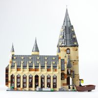 Harri Potter New Castle75954 Series Lepining Funny Blocks Great Hall Building Blocks Brick Educational Toys Compatible Legoing