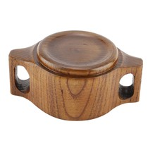 High Quality Eco-friendly Wooden Dual Handles Round Baby Feeding Bowl Traning Tableware Kitchen Accessories(China)
