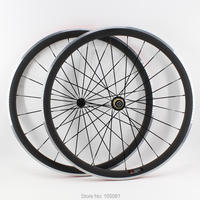 1pair New 700C 38mm clincher rim Road bicycle matte 3K carbon fibre bike wheelset with alloy brake surface light parts Free ship