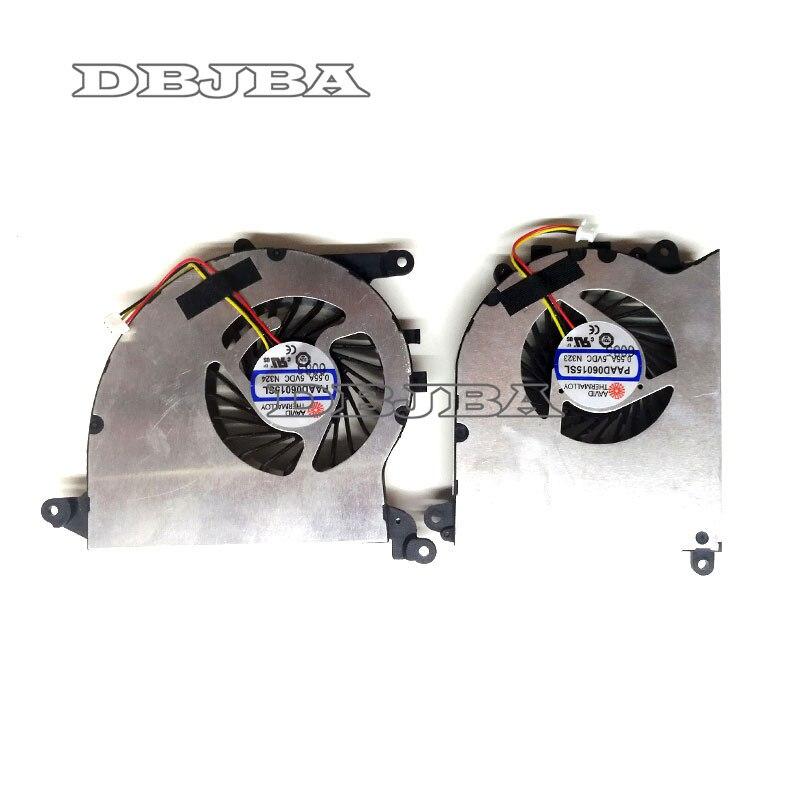 Nouveau pour MSI GS40 GS43 GS43VR MS-14A2 CPU & GPU ventilateur de refroidissement PAAD06015SL N323 N324