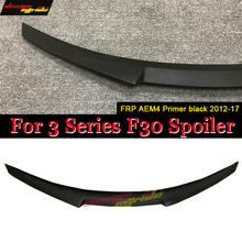 F30 Spoiler Rear Trunk Lip Wing M Style FRP Primer black For BMW F35  M3 220i 228i 330i 335i M235i lip 2012-in