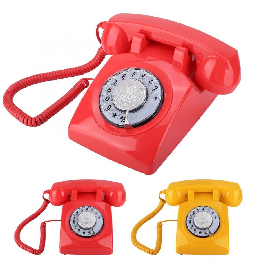 Retro Rotary Dial Telephone Vintage Landline Telephone Desk Telephone Portable telefono inalambrico de casa For Hotel