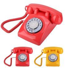 Teléfono de marcación rotatoria Vintage Retro para Hotel, Oficina familiar, teléfono fijo para casa, teléfono haus, teléfono portátil