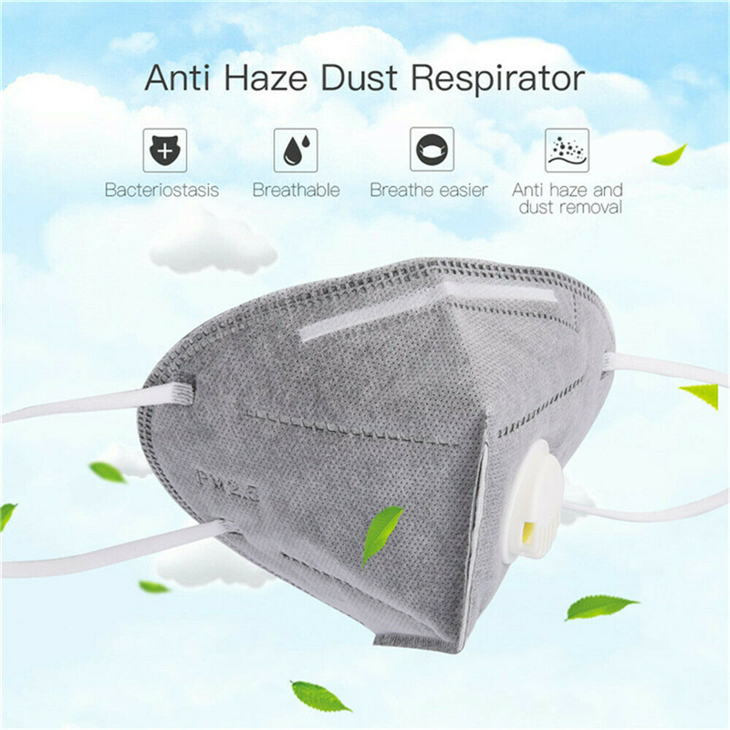 Ambicioso Adulto Pm2.5 Anti-polvo Máscara 5 Piezas Activado Aire Filtro De Carbono Cara Máscara Filtros Caliente Nueva Tela No Tejida Carbono Activado Máscaras Apariencia Atractiva