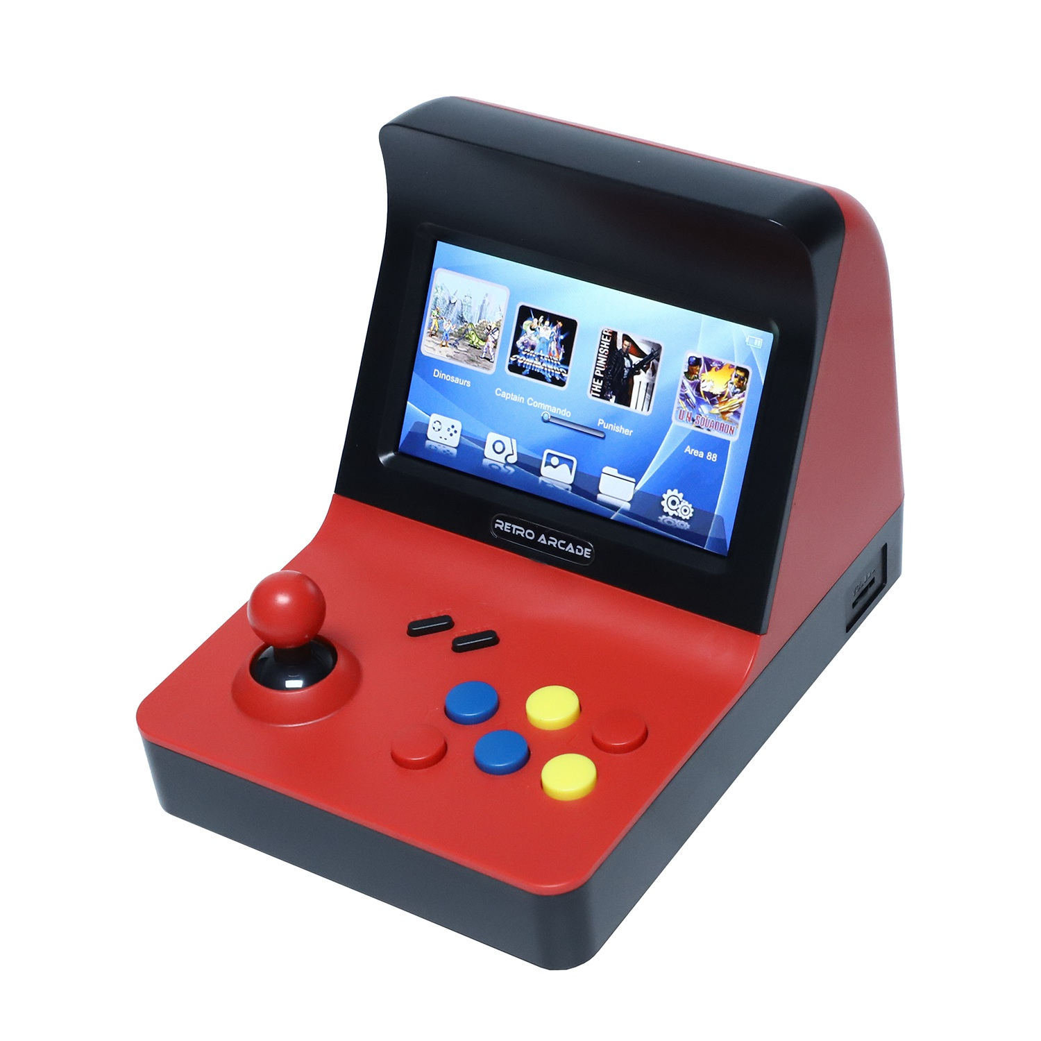Powkiddy A8 Retro Arcade Console Game Console Gaming Machine Built-In 3000 Classic Games Gamepad Control AV Out 4.3 Inch Scree