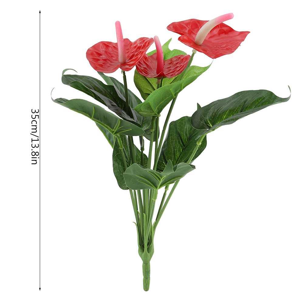 Langka Bunga Anthurium Bonsai Balkon Pot Tanaman Bonsai Merah Anthurium Bunga Buket Pernikahan Dekorasi Taman Rumah