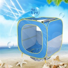 UV-protecting Sunshelter With Pool Summer Baby Beach Tent Kids Play House Tipi Enfant Teepee Ball Pool Pit Cabana Infantil Tent