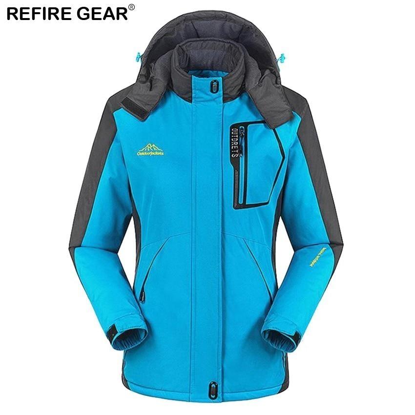 Refire Gear sports de plein air femmes hiver intérieur polaire coupe-vent veste chaude manteaux Camping Trekking randonnée Ski vestes femme - 2