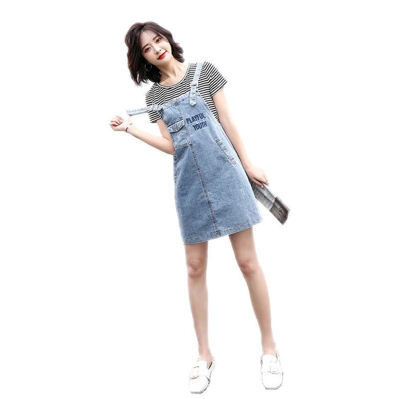 2019 новое летнее женское платье ковбойские ремни платья в полоску белая полоса 9145