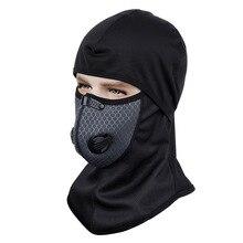 1 шт. черные зимние велосипедные шапки теплые ветрозащитные для верховой езды лыжный спорт маска головные уборы мотоцикл