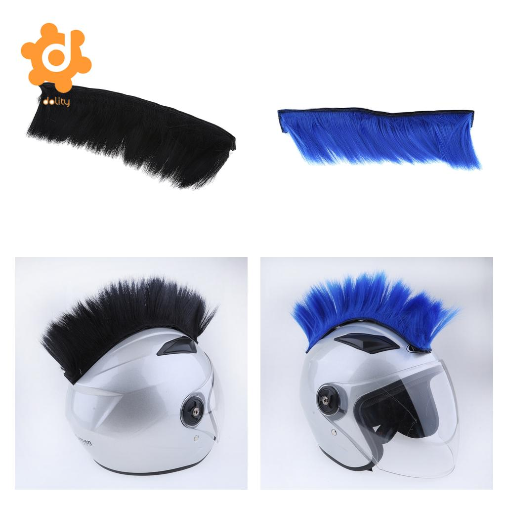 DIY Helmet Mohawk Hair Punk Hair For Motorcycle Ski Snowboard Helmets Blue