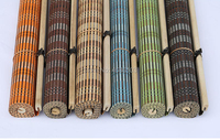 New arrival Green color bamboo roller blinds window roller blinds blackout roller blinds curtain shutter curtain vintage porch