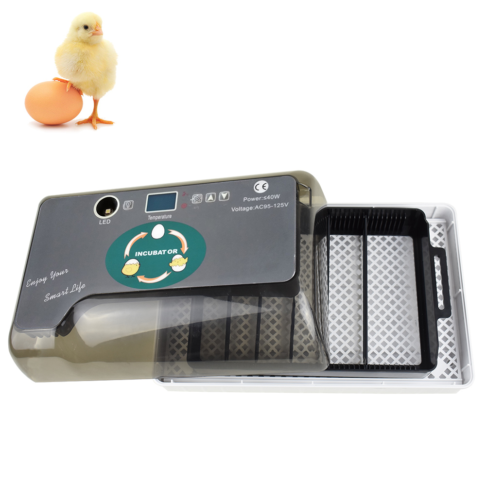Digital Egg Incubator Automatic Egg Hatcher Automatic Turning 12 Eggs Chicken Birds Quail Brooder Egg Incubator-in Feeding & Watering Supplies from Home & Garden    2