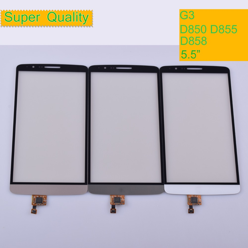 10Pcs lot G3 For LG G3 D850 D855 D858 Touch Screen Touch Panel Sensor Digitizer Front Glass Outer Lens Touchscreen in Mobile Phone Touch Panel from Cellphones Telecommunications