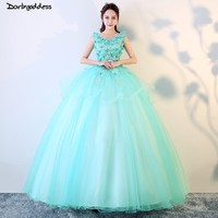 Cheap Green Quinceanera Dresses Sweet 16 Dresses For 15 Years Puffy Ball Gown Quinceanera Gowns Prom Dresses Vestido 15 Anos