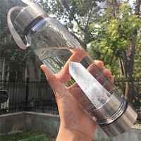 Botella de agua de cristal portátil curacion obelixir varita Elixir cristal botella de agua vasos de cristal regalos de navidad