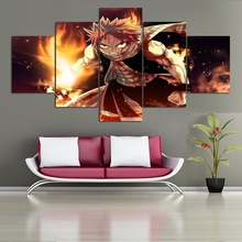 ANIME Painting Fairy Tail Natsu Dragneel Posters Picture Oil Painting Wall Picture for Home Decor good smile anime pvc 1 7 fairy tail natsu dragnir action figure natsu dragneel model toy decoration collections men gift 23cm